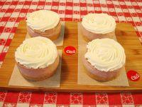 4 Stevia Strawberry Cheesecakes