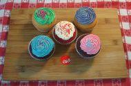 2 Vanilla 2 Chocolate & 1 Red Velvet Cupcakes